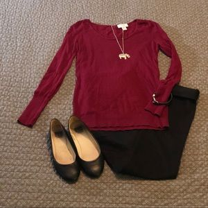 Beautiful Burgundy Loft Sweater